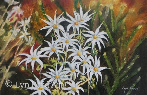 Lyn Ford Greeting Card Flannel Flowers Australia