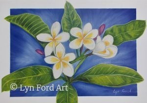 Frangipanis Greeting card