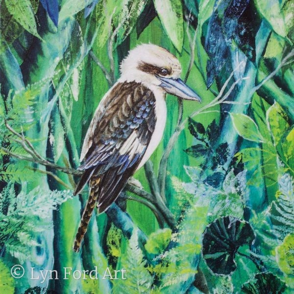 Kookaburra Greeting card front