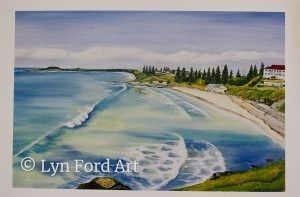 Main Beach, Yamba, NSW greeting card