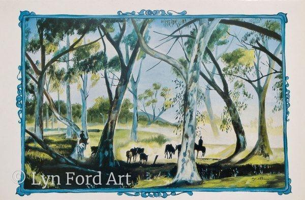 Outback Australia greeting card