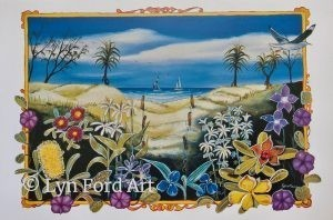 Plants of the Dunes, Australia greeting card