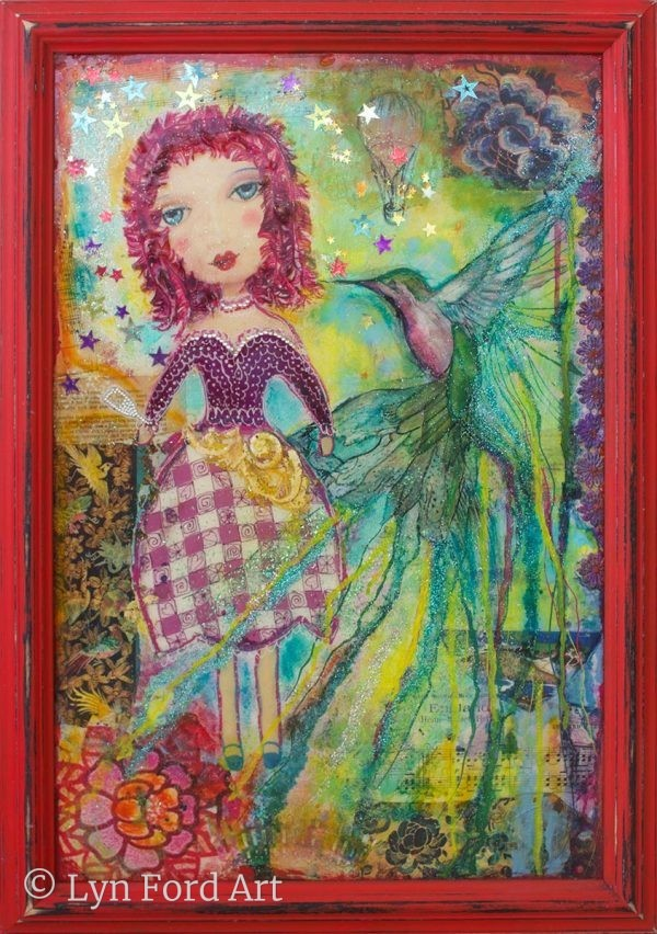 Girl with Hummingbird