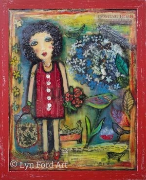 Girl with Red Roses