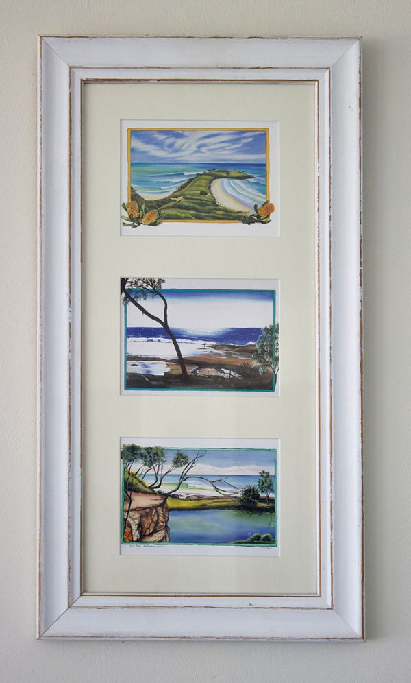 Framed postcards